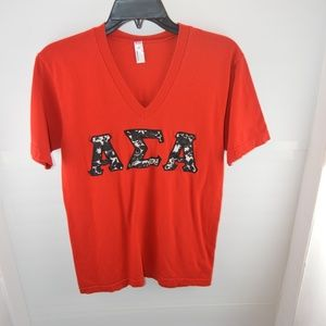 Alpha Sigma Alpha T-Shirt with Floral Letters